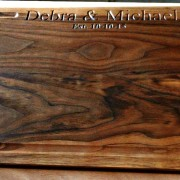 """12"""" x 16"""" walnut cutting board with personalized engraving"""