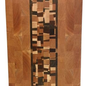 cherry end grain butcher block with confetti accent center