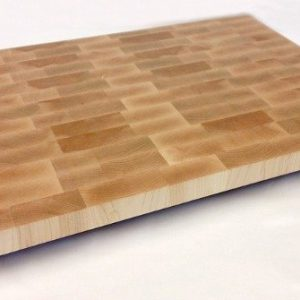 Large end grain maple butcher block.