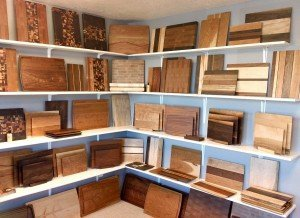 Hardenbrook Hardwoods cutting board showroom