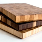 three different kinds of wood for our Butcher Blocks