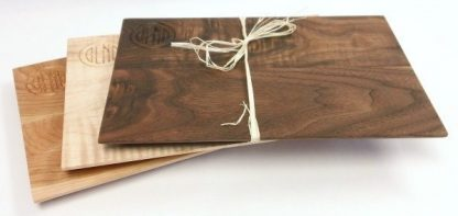 collection of engraved hardwood cheeseboards