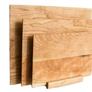 set of three cherry cutting board with stand