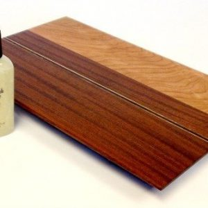 mahogany cheese board with cherry and walnut accents