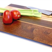 Walnut Veggie board with maple accents