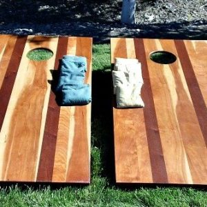 cherry corn hole set with bags