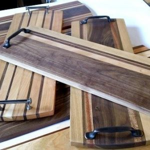 hardwood serving boards with handles
