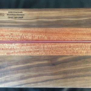 cutting board walnut mahogany accent stripe