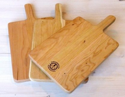 cherry paddle style cutting board