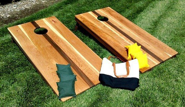 Corn Hole Set, Cherry Walnut