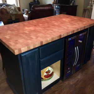 cherry butcher block island