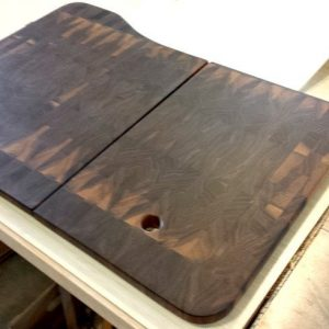 custom hardwood cutting board sink inserts