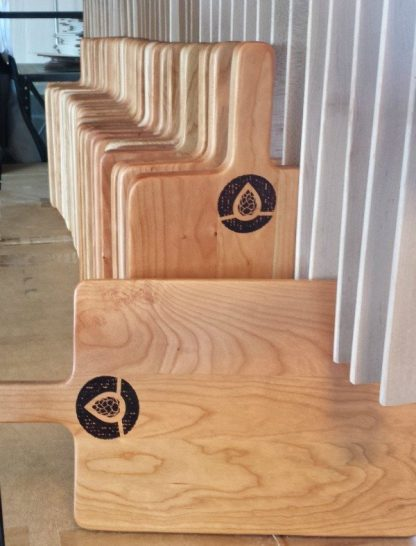 paddle style cutting boards made of cherry