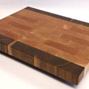 cherry and walnut end grain butcher block
