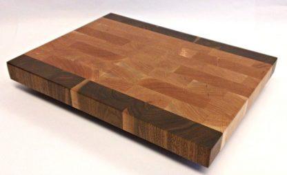 cherry walnut butcher block end grain