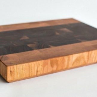 Walnut and cherry end grain butcher block