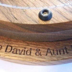 engraving on bottom or lazy susan
