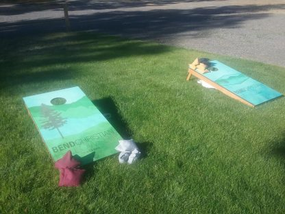 vinyl wrap corn hole set