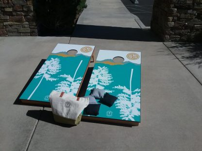 corn hole set vinyl wrap