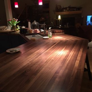 walnut strip counter top