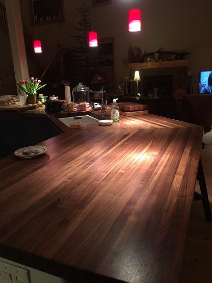 walnut strip counter top